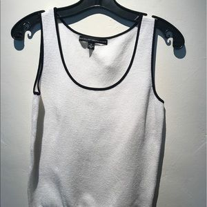 Ellen Tracy Black and white tank top.
